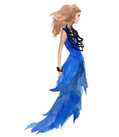 Karlie Kloss in Oscar de la Renta Spring '12 show  by Inslee by Design