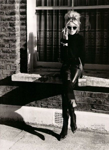 bridgette bardot. all black everything.