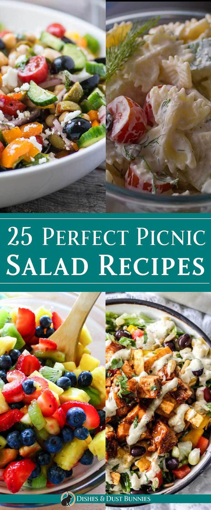25 Perfect Picnic Salad Recipes from dishesanddust…