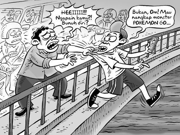 Kartun Kontan Benny Rachmadi - Juli 2016: Demam Gim Pokemon