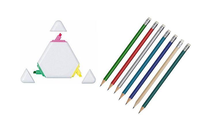 Ołówki i zakreślacze