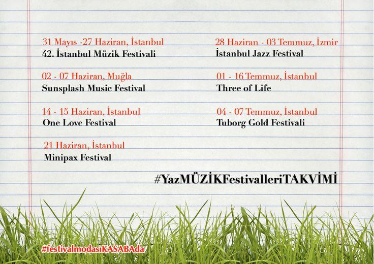 Haziran geldi, festival sezonu açıldı❗️   festival modası Kasaba'da.. peki festivaller nerede ❓  YAZ MÜZİK FESTİVALLERİ - TÜRKİYE    #müzik #music #müzikfestivali #muzikfestivali #müzikfestivalleri #muzikfestivalleri #musicfestival #musicfestivals