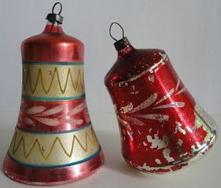 Czechoslovakian hand-blown vintage Christmas ornaments ... We had these on all our Christmas trees.