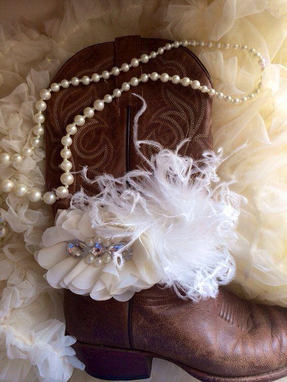 Bridal Cowgirl Boot Bracelet  by AmericanCowgirls on Etsy, $29.00
