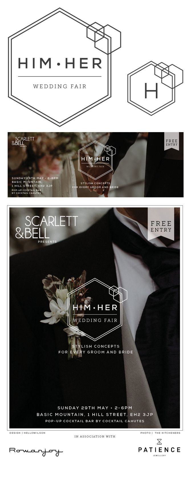 Branding: Him•Her Wedding Fair - Edinburgh Graphic Designer | Branding design for small, creative businesses | Edinburgh and UK  Click to find out more  #edinburghgraphicdesigner #edinburghdesigner #graphicdesigner #smallbusinessdesign #femaleentrepreneur #smallbusiness #creativebusiness #edinburghcreative #branding #identity #design #brandingdesign