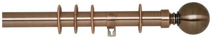 Swish Belgravia 29mm Copper Effect Metal Curtain Pole (Sunflex)