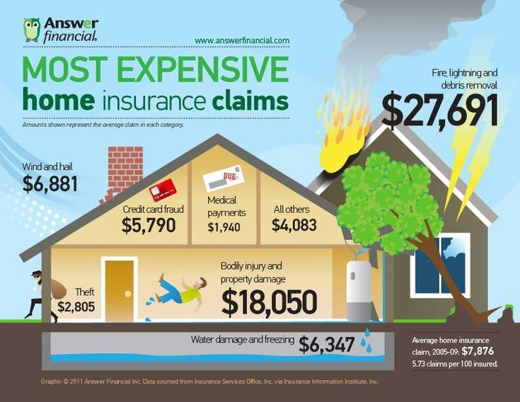 Most Expensive Home Insurance Claims Infographic Insurance