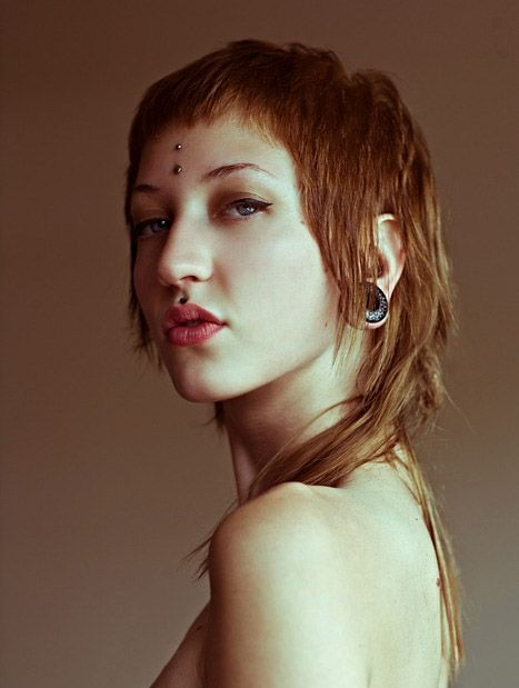 Love the femme mullet... Long, but outta' my eyes.