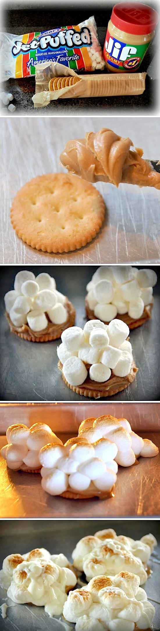 Peanut Butter Marshmallow Ritz | Recipe By Photo - perfect for our summer camping adventures!