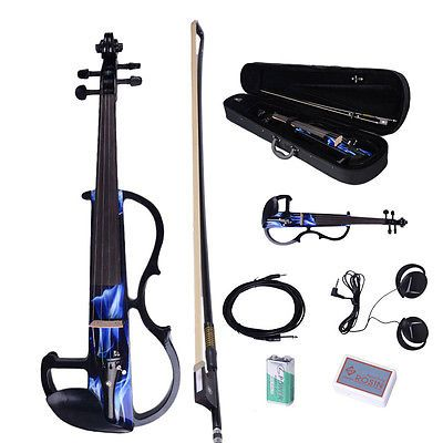 New Blue Sound 4/4 Electric Violin + Rosin + Bow+Case+ Earphone+ Battery Musical | Musical Instruments & Gear, String, Orchestral | eBay!