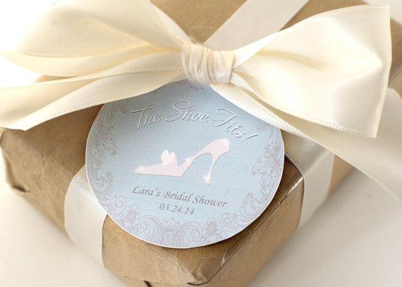 Bridal Shower Favor Label / Tag - CINDERELLA Printable                                                                                                                                                                                 More