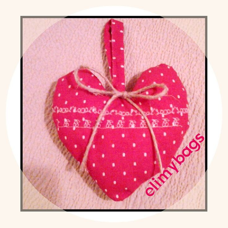 Cuore di stoffa fragola decorazione country handmade♥, by Elimybags, 4,00 € su misshobby.com