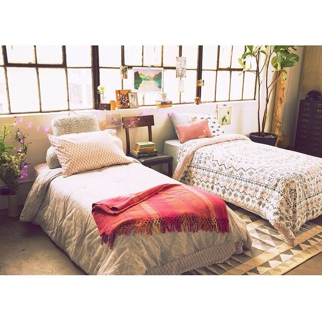 We're already thinking about the move-in. #uoaroundyou #bedding #dorm #apartment #urbanoutfitters