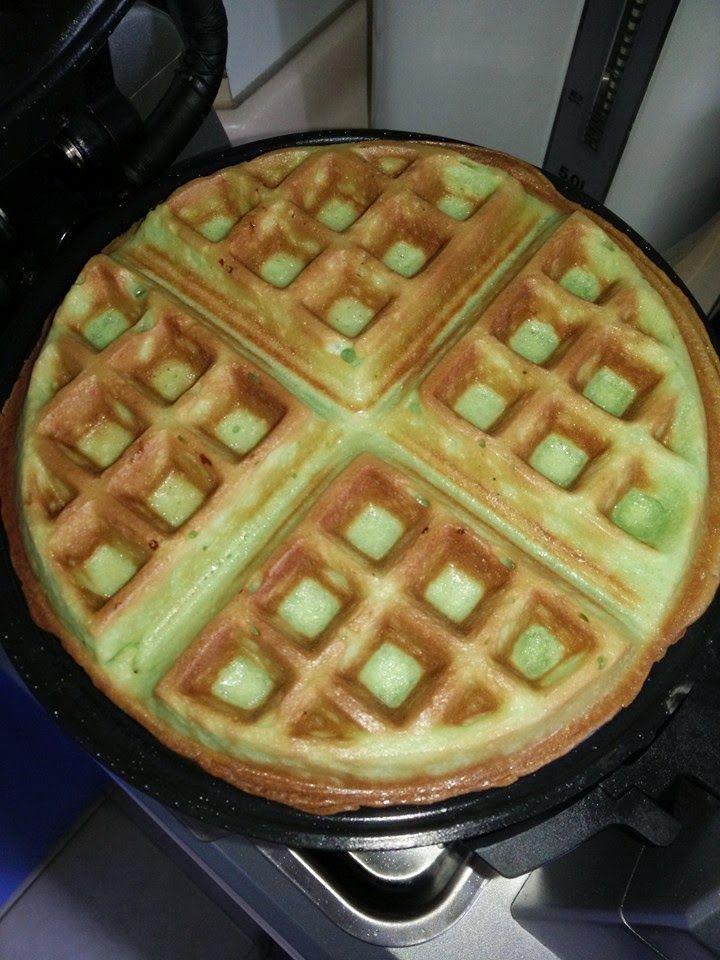 Baking's Corner AKA BC: Pandan Waffles - by Joey Foo