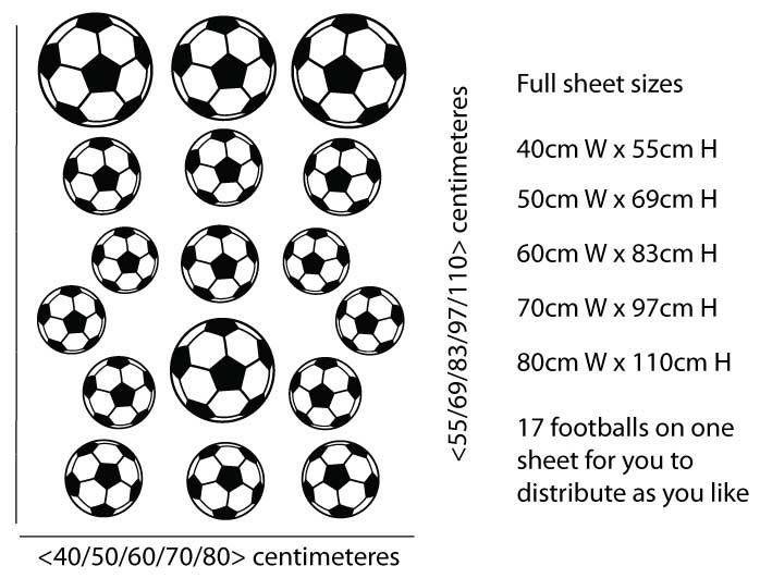 World Of Wall Art - 17 Footballs Wall Sticker Pack , £9.99 (http://www.worldofwallart.co.uk/17-footballs-wall-sticker-pack/)
