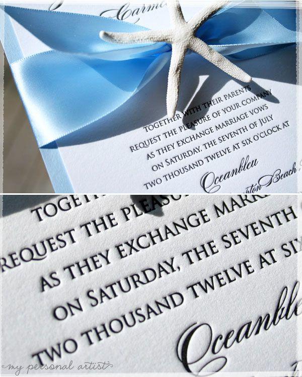 Beach CHIC Wedding Invitations By My Personal Artist Custom