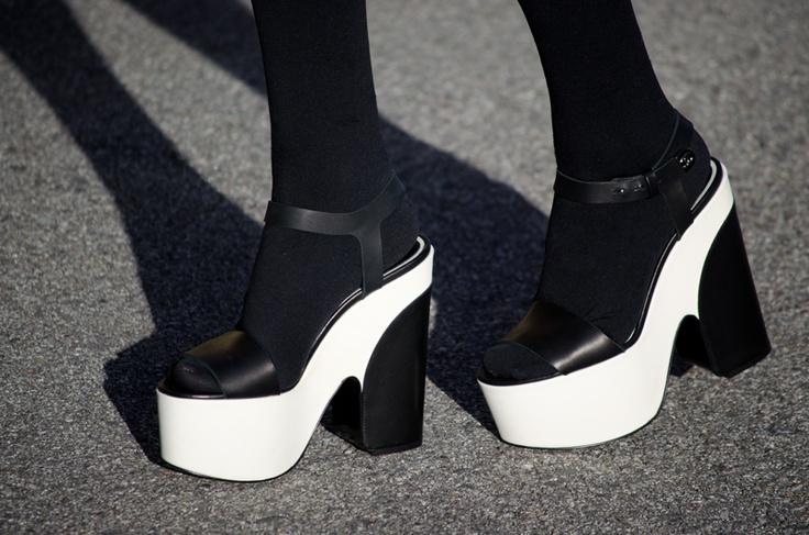 Chanel wedges. via Tu - sorry makes you look like you have huge, anime feet.