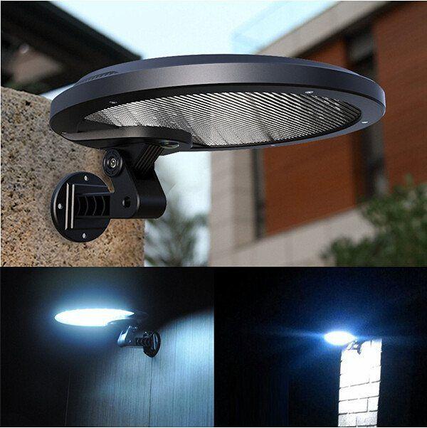 hot selling solar led powered garden lawn lights outdoor infrared sensor light motion detection wall light