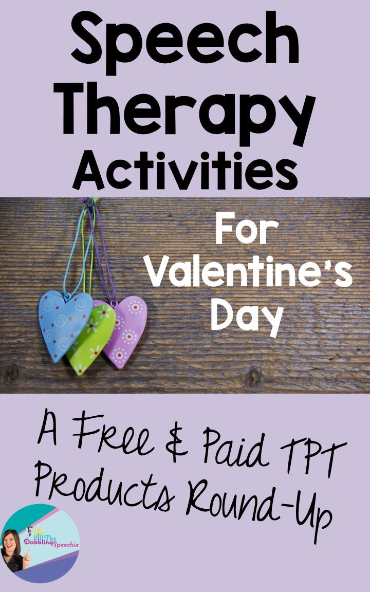 Valentine's Day speech therapy activities. All organized by area of treatment for speech therapy. FREE & paid!