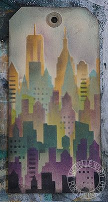 NYC Skyline Stencil - The Ink Pad - design by Michelle Ward