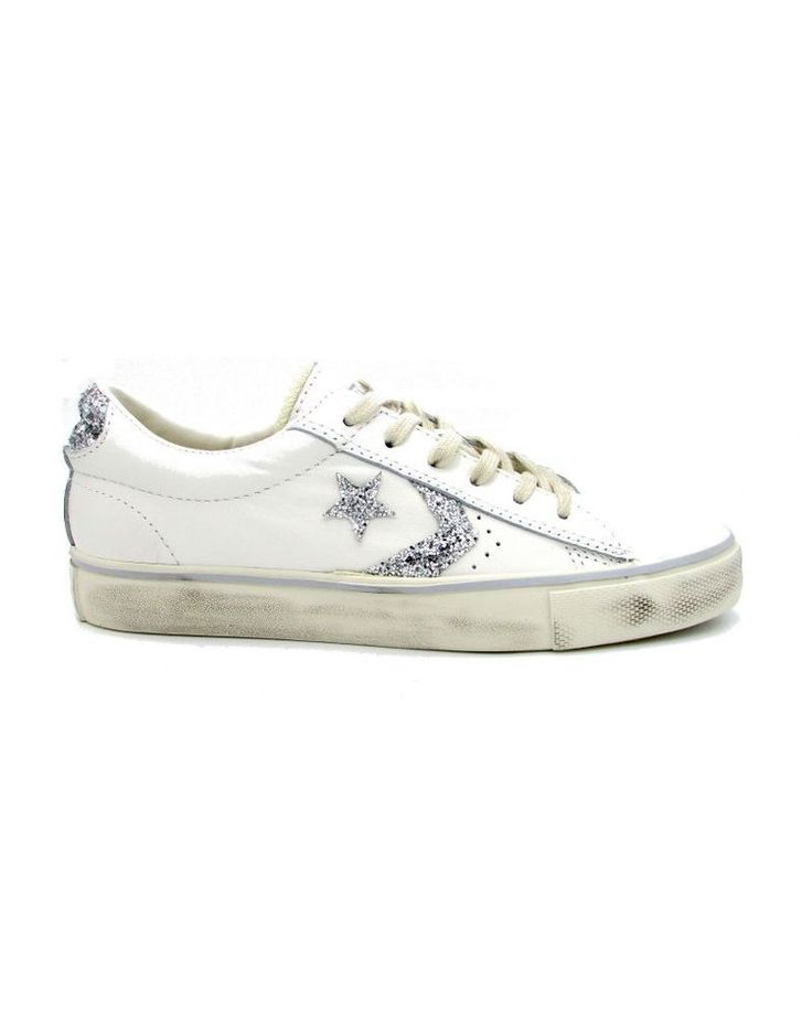 CONVERSE SNEAKERS PRO LEATHER VULC DISTRESSED OX BIANCO 556802C