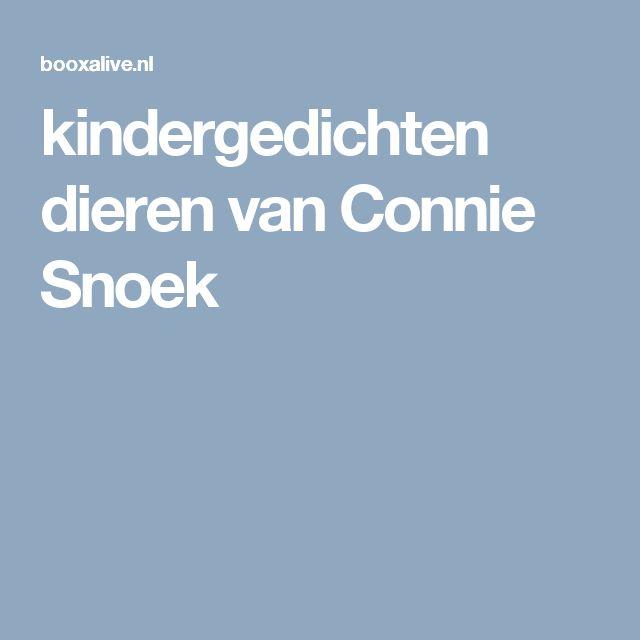 kindergedichten dieren van Connie Snoek