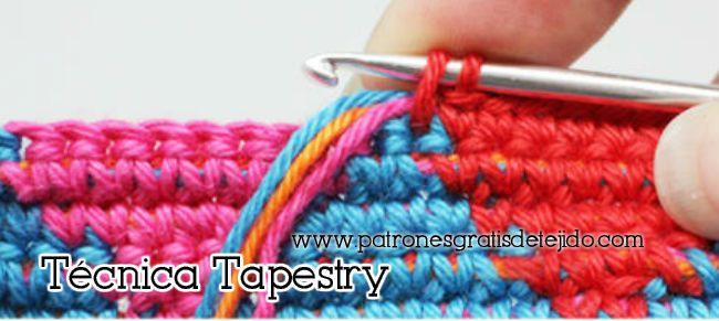 Técnica crochet tapresty tapicería paso a paso
