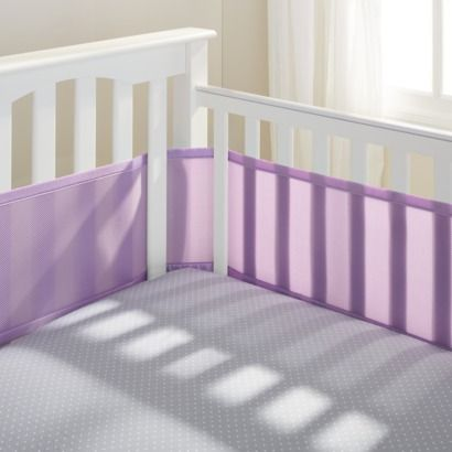 Apparently crib bumpers are out.. If we get the set at Target we will have to get these or make our own.