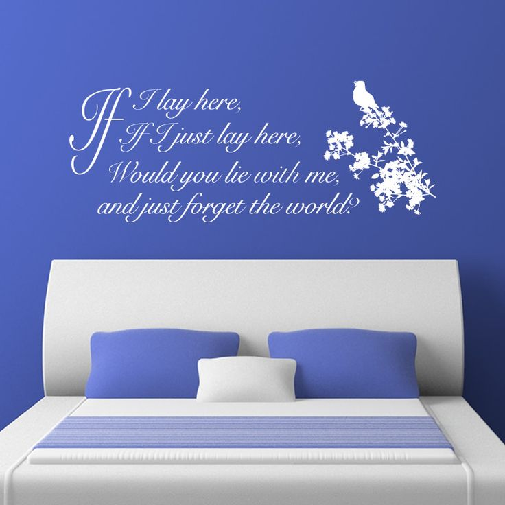 Quality Snow Patrol If I Lay Here With Birdsong Lyrics Wall Sticker Part 62