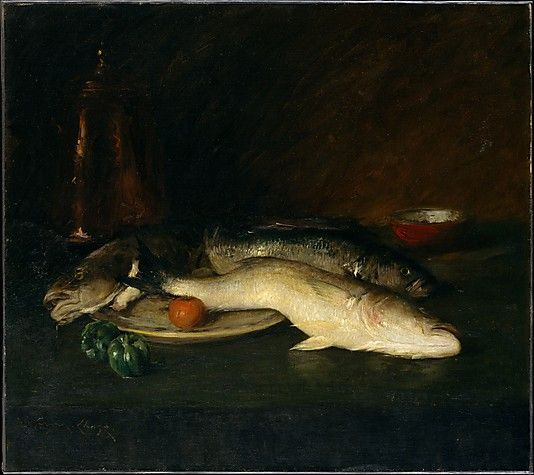 William Merritt Chase (American, 1849–1916). Still Life: Fish, by 1908. The Metropolitan Museum of Art, New York. George A. Hearn Fund, 1908 (08.139.2)