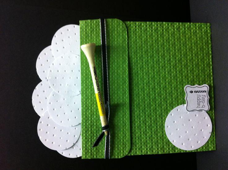 Golf bucket-flower pot card ( Laura's Card )