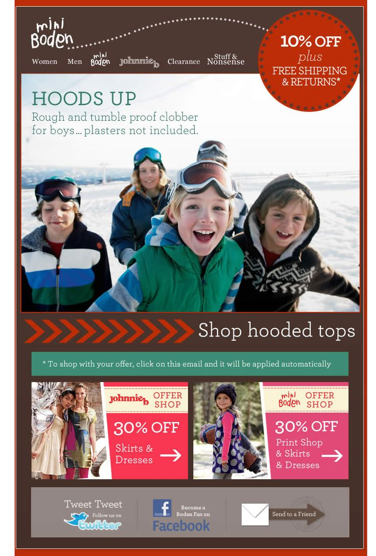 35 best email design images on pinterest email for Boden newsletter