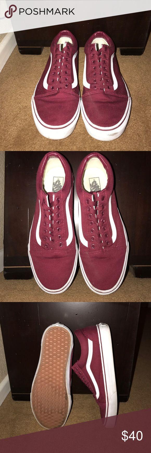 Vans Sk8 Low - Maroon Size 10 Vans Sk8 Low, only worn a handful of times, very clean. Vans Shoes Sneakers