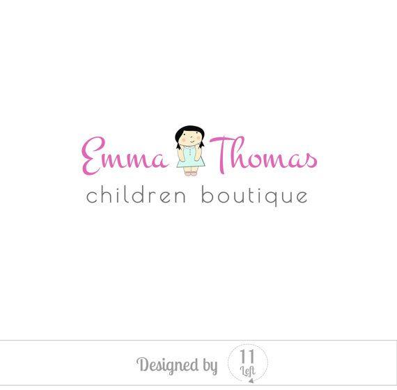 Children logo design, pastel color, business logo design, custom