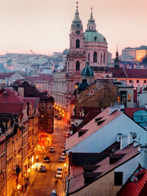 Evening Pastels: - Prague, CZECH REPUBLIC. (by John & Tina Reid)