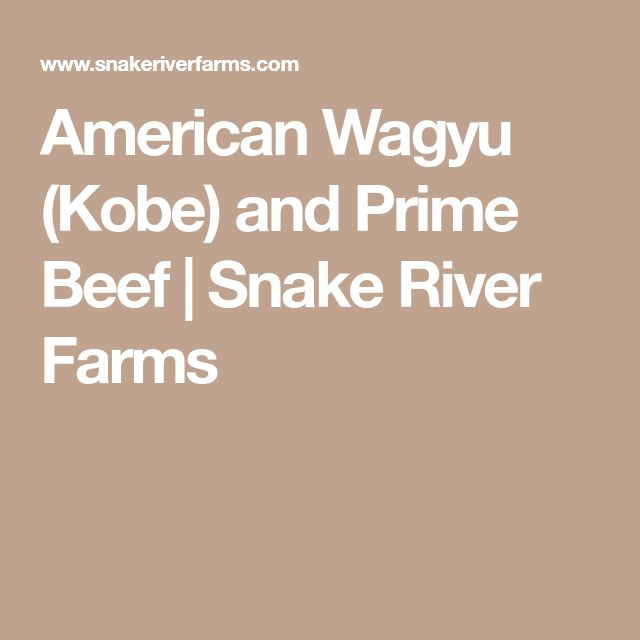 American Wagyu (Kobe) and Prime Beef | Snake River Farms