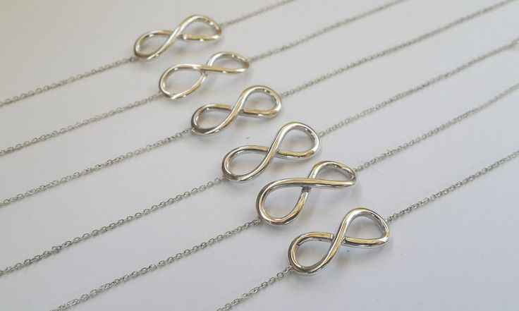 Infinity Bracelets #bridesmaidjewellery #friendshipbracelets #silver #handmade