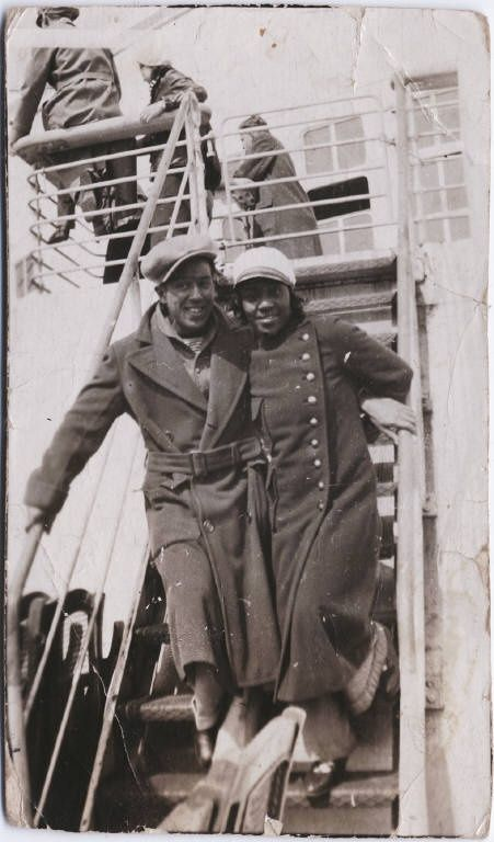 Langston Hughes and Dorothy West, on their way to Russia in 1933, photographed by Carl Van Vechten.