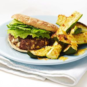 dinners for under 500 calories from Fitness magazine. Boots Camps, Blue Cheese, Beach Body, 500 Calories, Dinner Ideas, Healthy Dinner Recipe, Parmesan Wedges, Blue Burgers, Zucchini Parmesan