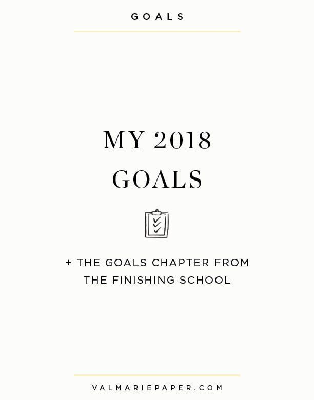 I'm planning to share a bit more about how I pick my goals in Insta-stories today but for now, here are my actual goals for 2018! And there is a little gift for you at the end of the post!  1. Prioritize the care of my soul over accomplishments. This is in line with my word for the year. I want to be less focused on doing. To speak candidly, we've had our most successful year in business and