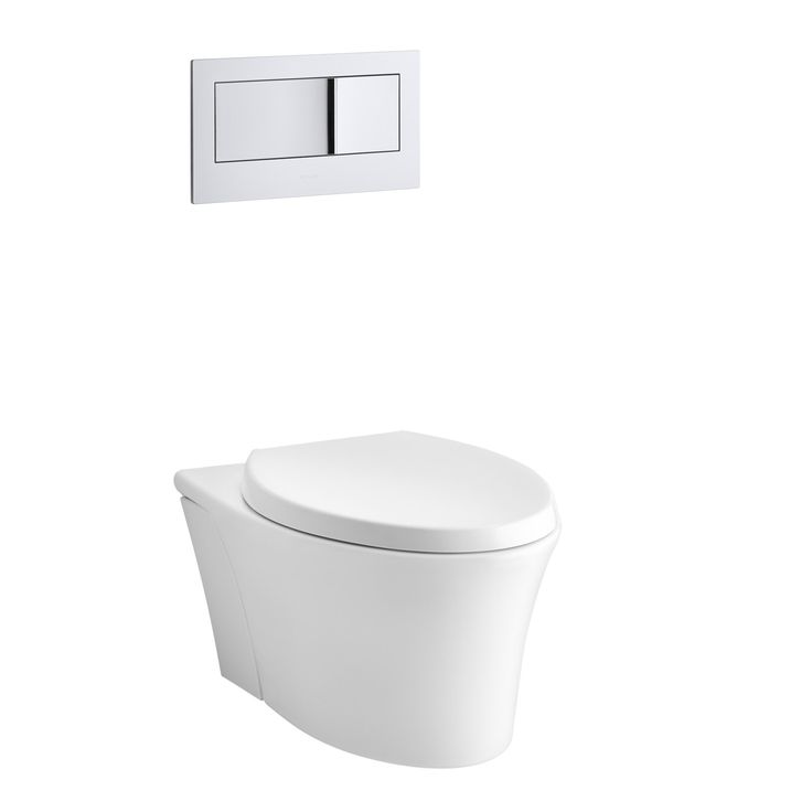 Veil One Piece Elongated Dual Flush Wall Hung Toilet With Reveal Quiet Close Seat
