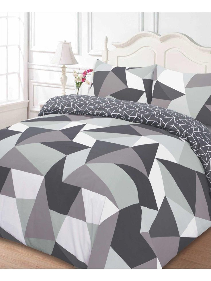 £14.50 Shapes Duvet Cover and Pillowcase Set in Double and King SizesBoasting a multicoloured geometric print, this duvet cover and pillowcase set is