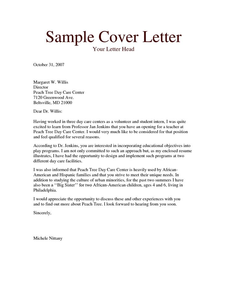 Sample Resume Child Care Cover Letter Australia Worker Australian