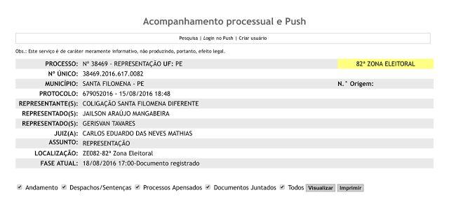 """Santa Filomena Atual: Blog Santa Cruz 24 hs é processado pela """"coligação..."""