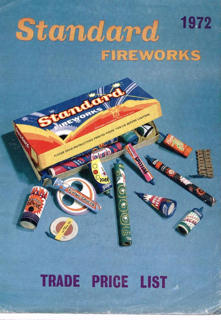 standard fireworks poster from 1972 Light up the sky with Standard Fireworks !! Best Back when fireworks were only lit on the 4th