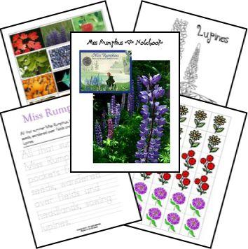 FREE Miss Rumphius Lapbook & Notebook Printables