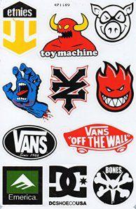 Planche de sticker spécial a4 dC sANTA cRUZ zOO yORK eTNIES aLIEN wORKSHOP skate eLEMENT sticker skateboard autocollant: Fabriqué en…