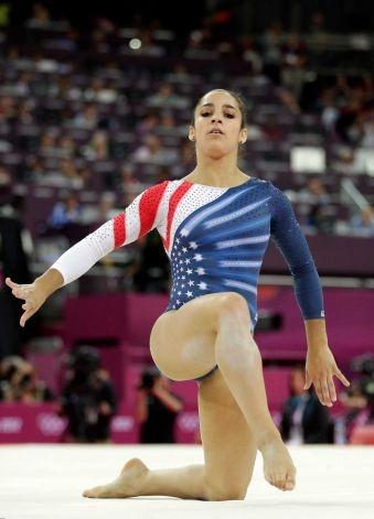 U.S. gymnast Alexandra Raisman -artistic gymnastics women's floor exercise final -2012 Summer Olympics, Aug. 7, 2012, in London.