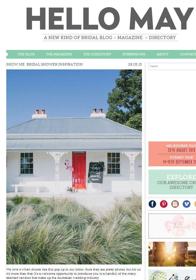 Styled shoot featured on wedding blog Hello May » Bridal Shower Inspiration at Trelawney Farm, Mudgee.