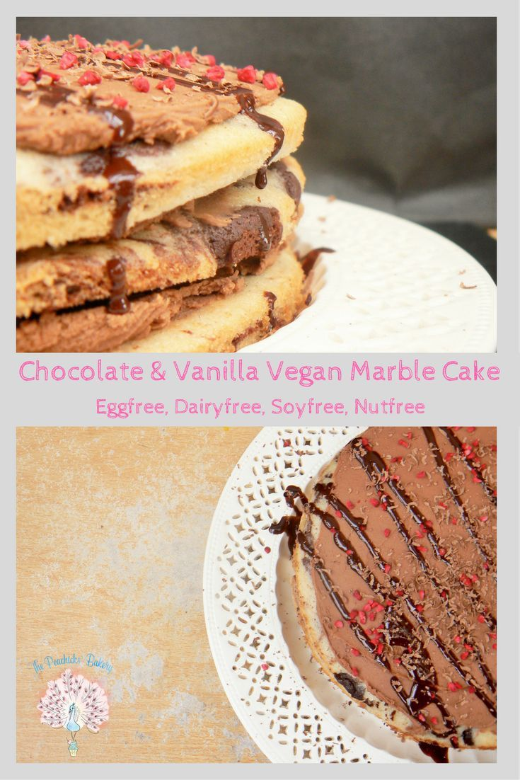 Can't decide between vanilla or chocolate cake? Why not have both with this Chocolate & Vanilla Vegan Marble Cake! Pretty, easy to make & sure to impress!  All you need is a piping bag of each batter which you 'Jackson Pollack' into the tin before swirling with a skewer or knife!  Just fill with buttercream and/or jam plus some fresh fruit if you fancy it and you'll have a beautiful cake to share with friends.